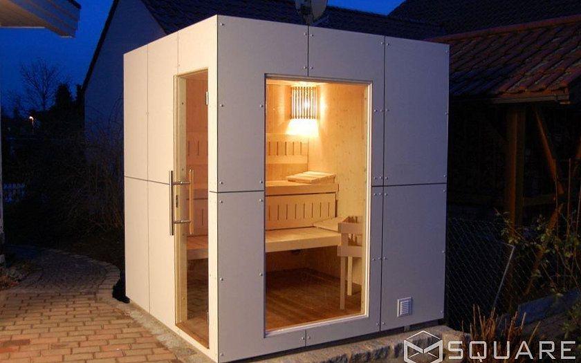 Saunahaus Square Box Ihre Moderne Gartensauna Vorschlage Haus