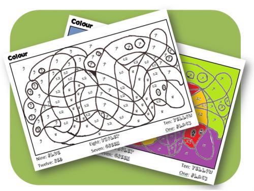 Coloriage magique couleurs et nombres math english - Coloriage magique cycle 2 ...