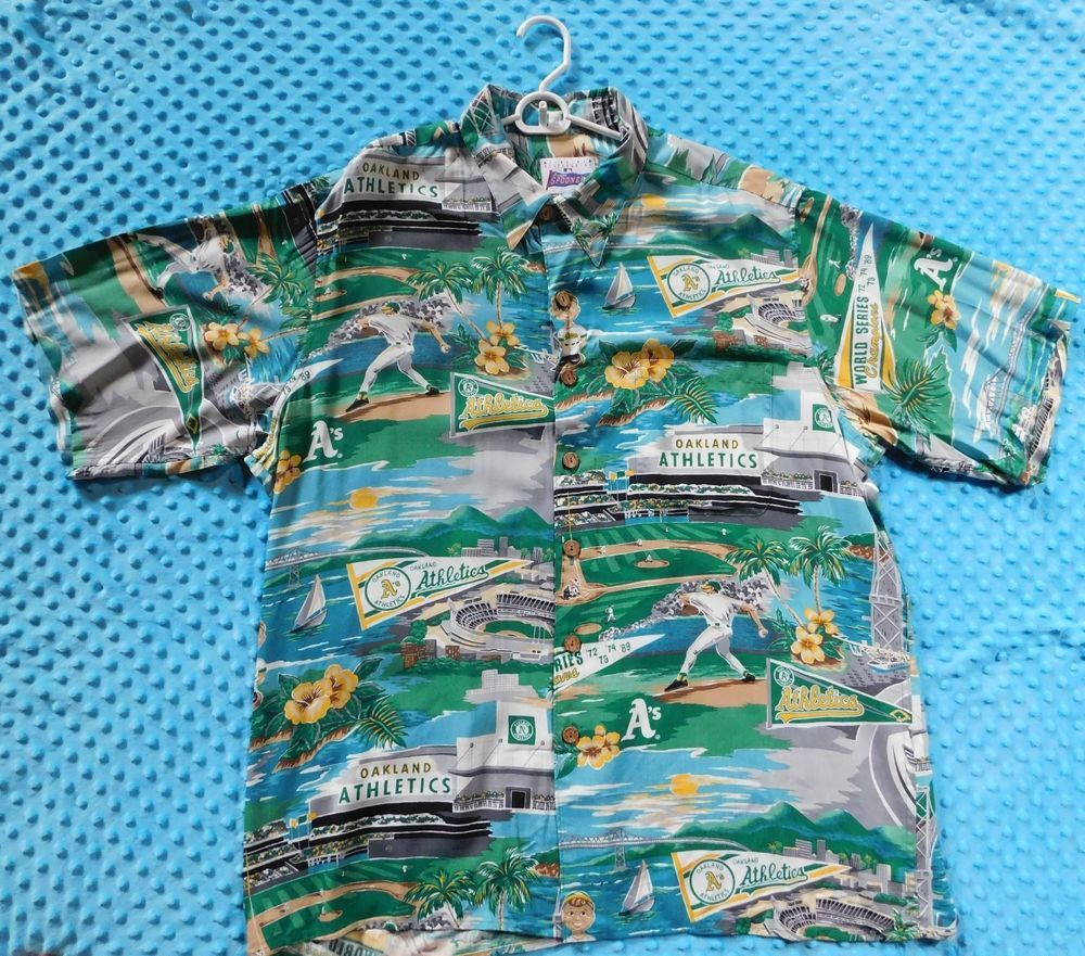 6d37f9b6 Vintage Reyn Spooner Oakland A's MLB World Series Champs Hawaiian Shirt Size  XL #fashion #clothing #shoes #accessories #mensclothing #shirts (ebay link)