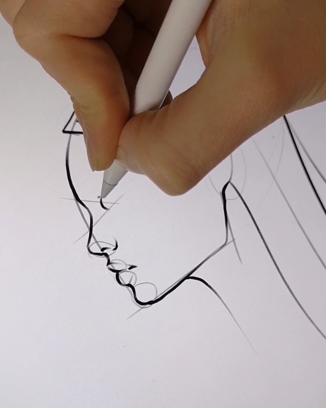Drawing Side Profile Tutorial on Procreate by AlicjaNai,  #AlicjaNai #drawing #pencildrawing #Procreate #Profile #Side #Tutorial