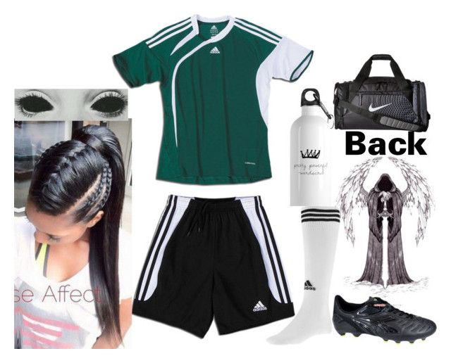 """""""Charlie Reaper{Soccer tryouts}"""" by queen-wonderland ❤ liked on Polyvore featuring adidas, Diadora and NIKE"""
