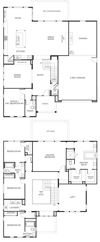 Plan 3 - Arista, Los Angeles / Ventura | Santa clarita, Bath and House