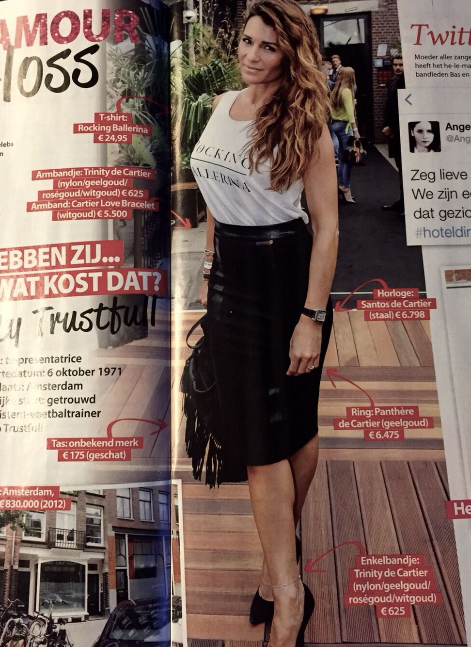 Quinty Trustfull in Gloss Magazine met Rockin'items-Clutchbag http://www.rockinitems.com/Clutchbag-Rockin-Items-fringe-black