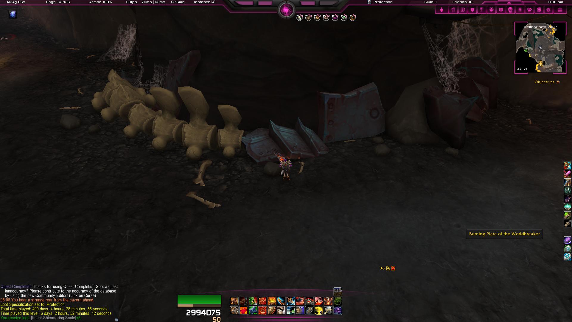 Location I found my prot warrior hidden artifact item  It
