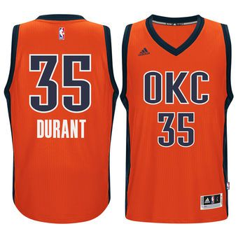 los angeles 87c1c cdb12 adidas Kevin Durant Oklahoma City Thunder Orange Swingman ...