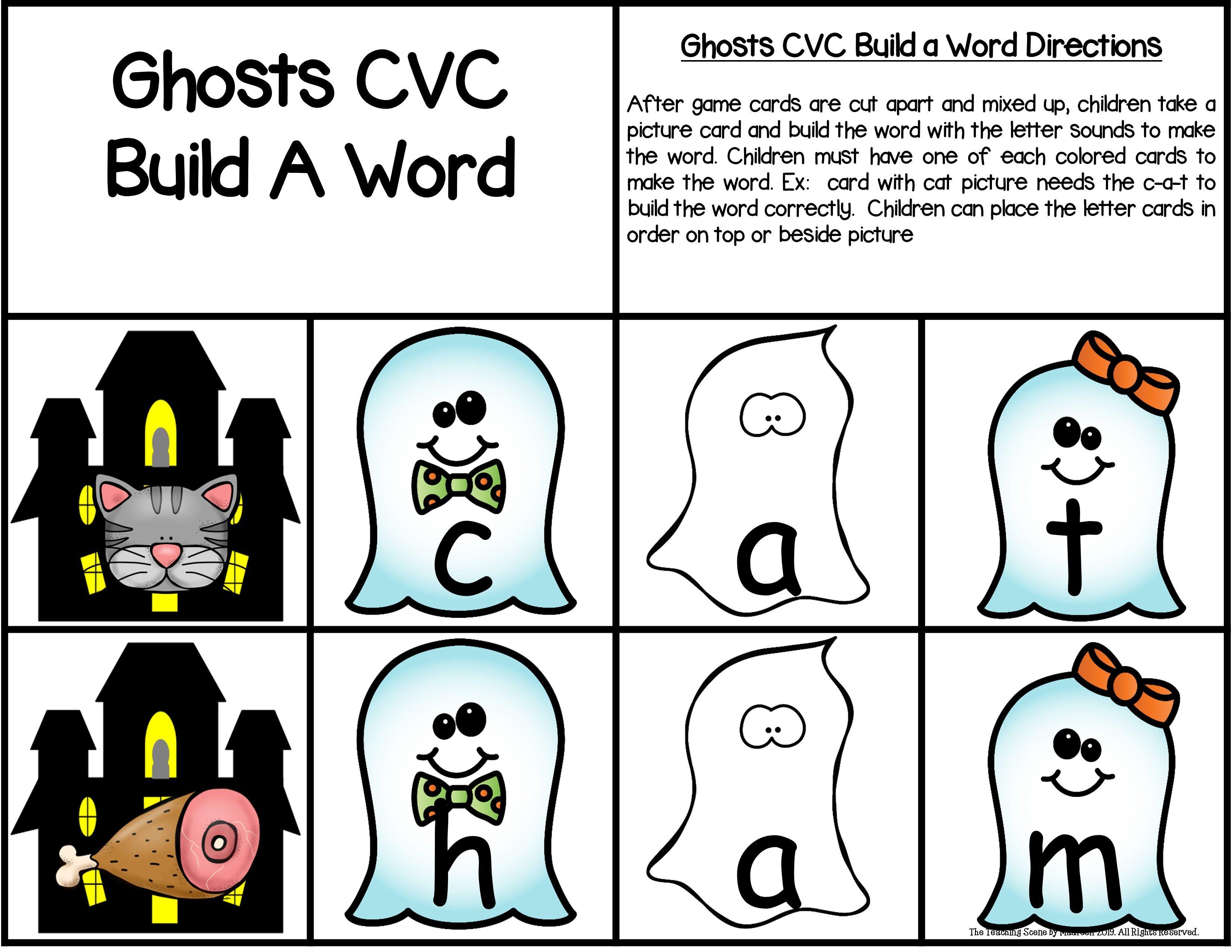 Ghosts Build A Cvc Word