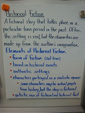 Historical fiction  would add images on this to catch attention anchor chart also best teaching reading rh pinterest