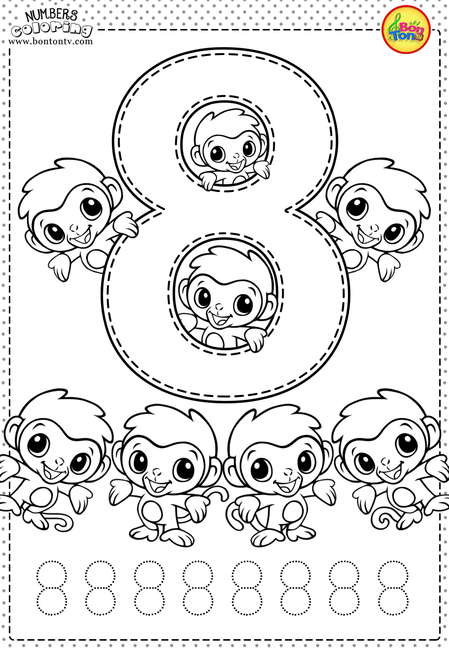7 Coloring Activity Sheets For Students Number 8 Preschool Printables Free Workshe In 2020 Preschool Worksheets Free Printables Numbers Preschool Kids Learning Numbers