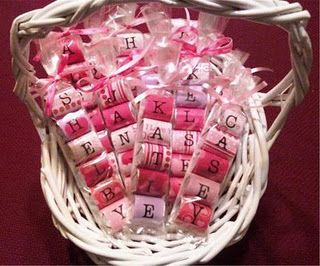 Personalized Valentine's using Hershey Nuggets and sticker letters! Hearts on empty letter ones