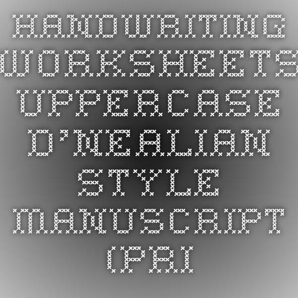 Handwriting Worksheets - Uppercase D\'Nealian Style Manuscript (Print ...