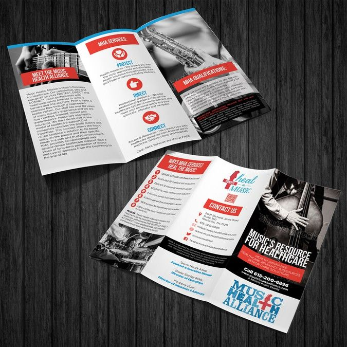 Brochure Creation To Heal The Music  Music Industry NonProfit By