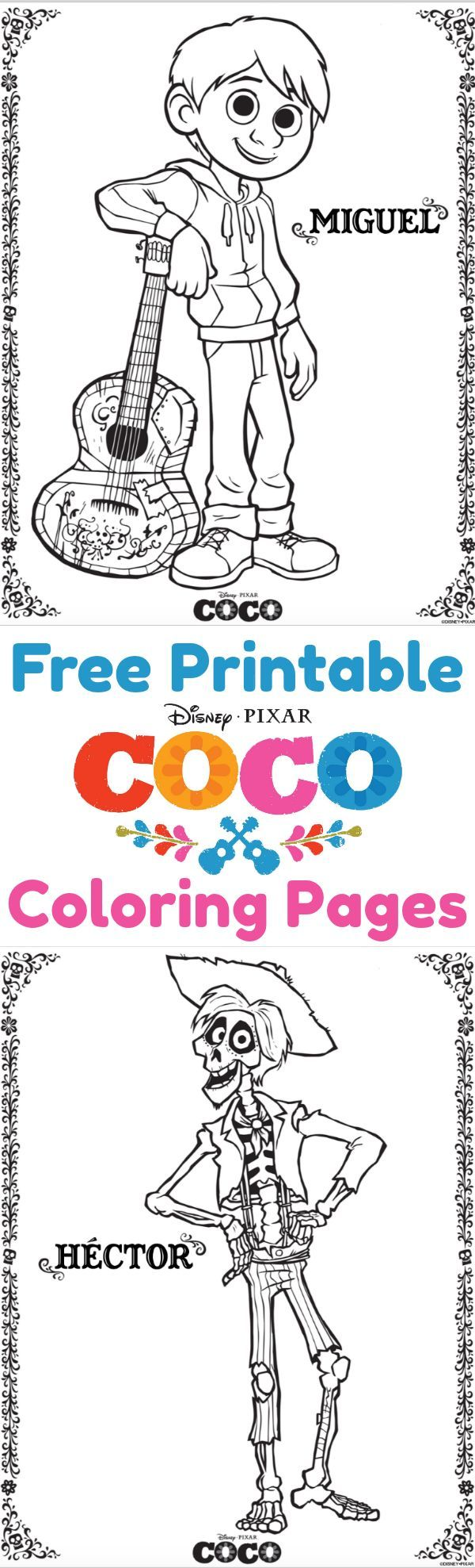 Download free Coco coloring pages and activity pages and