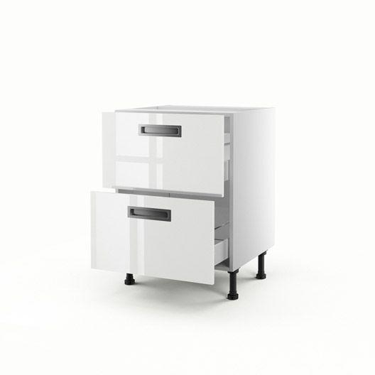 Meuble De Cuisine Bas Blanc 2 Tiroirs Play H70xl60xp56 Cm Cuisine Meuble Amenagement Blanc Des Meuble Cuisine Meuble Bas Cuisine Meuble Rangement Cuisine