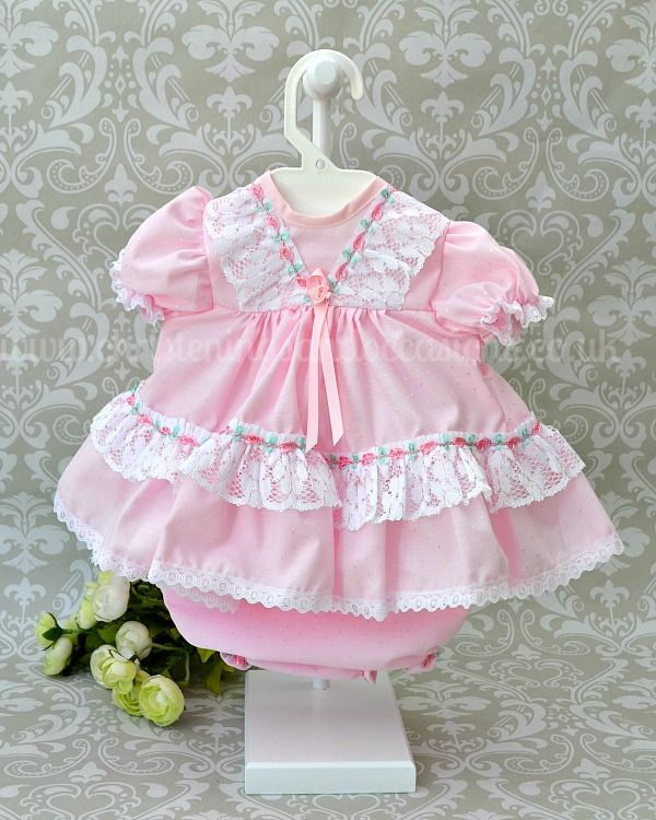 6b643ddcd424 Premature Baby Girls Pink Special Occasion Dress | Christmas outfits ...