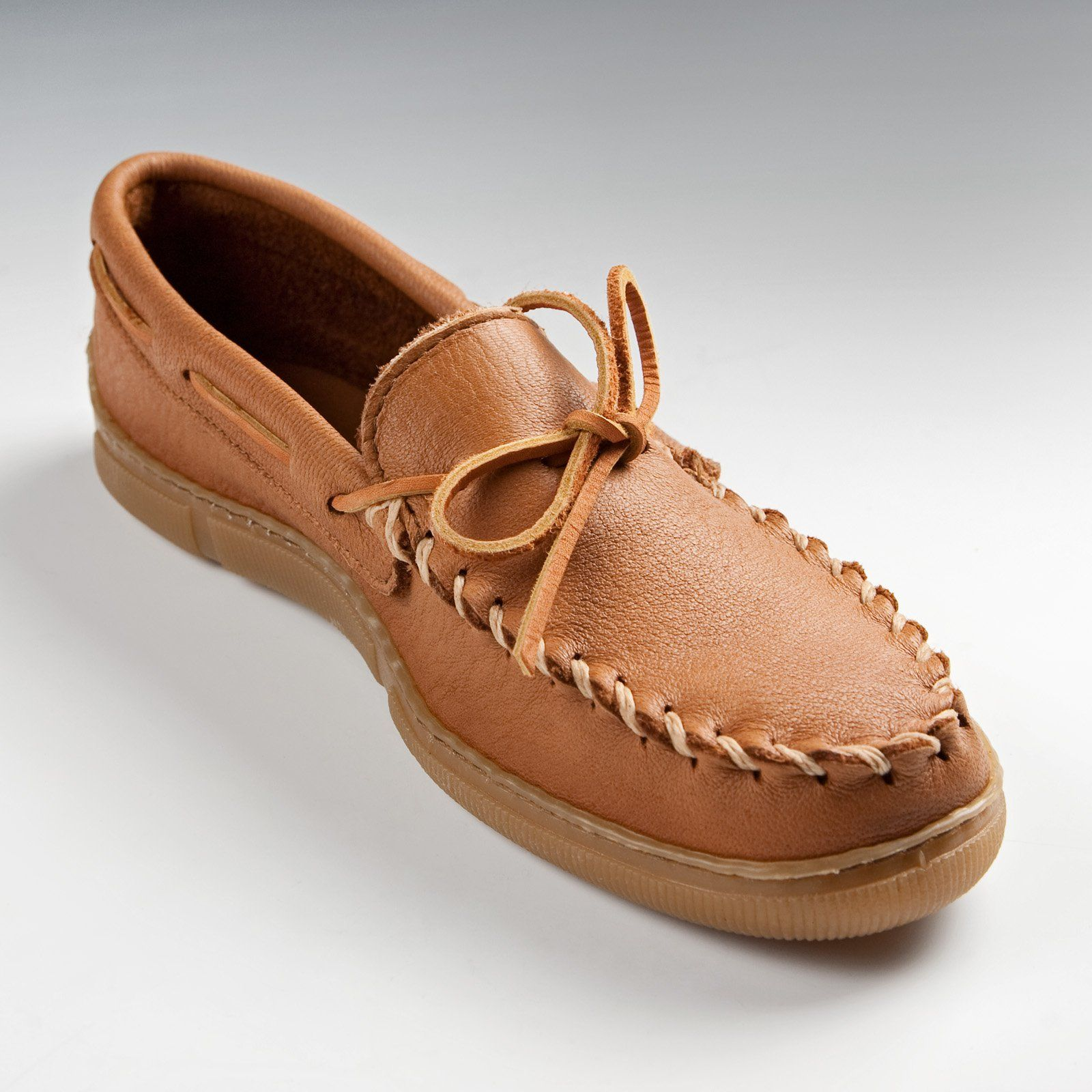 Minnetonka Mens Moosehide Classic Moccasins - 890-NATURAL-7