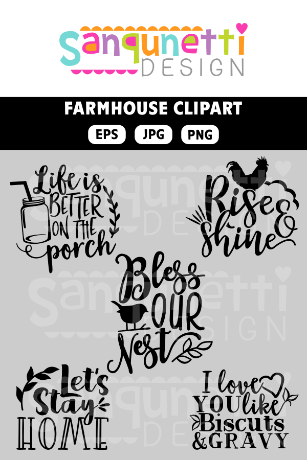 Farmhouse Clipart Farm Clipart Farm Lettering Home Clipart Rustic Country Clipart Instant Download Great For Your Kitc Lettering Clip Art House Clipart
