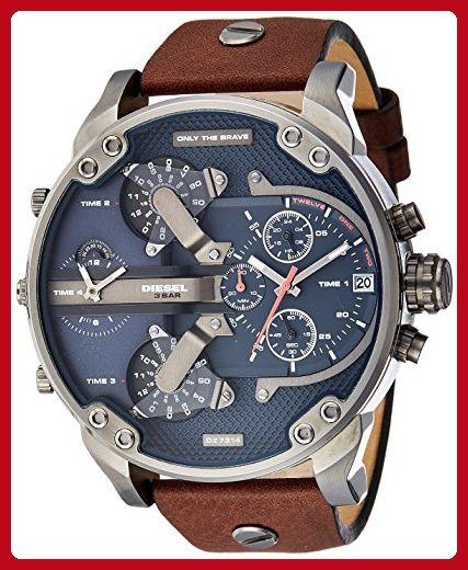 95007defbe5d Diesel Men s DZ7314 Mr Daddy 2.0 Gunmetal Brown Leather Watch - Mens world  ( Amazon Partner-Link)