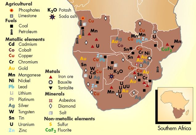 Resources Southern Africa | Africa Geopolitics | African history