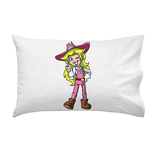 'Plumbing Story' Western Cowgirl Hero Character Funny Video Game & Children's Cartoon Movie Parody - Pillow Case Single Pillowcase