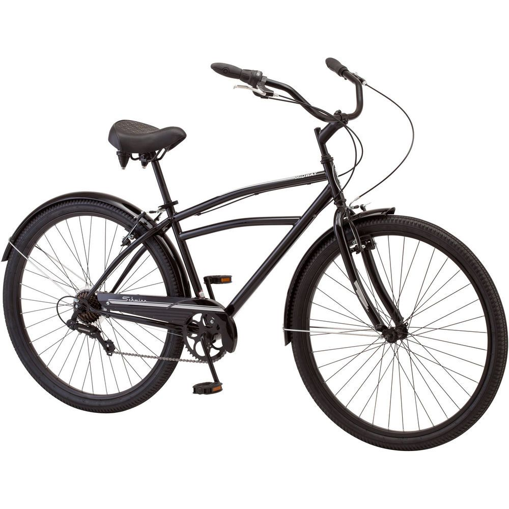 Mens Cruiser Bike 29 Inch Steel Bicycle with Padded Seat 7