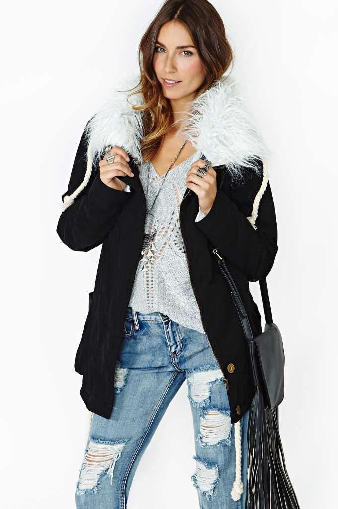 Slash Into View Vegan Suede Top | Coats, Teaspoons and Duffle coat