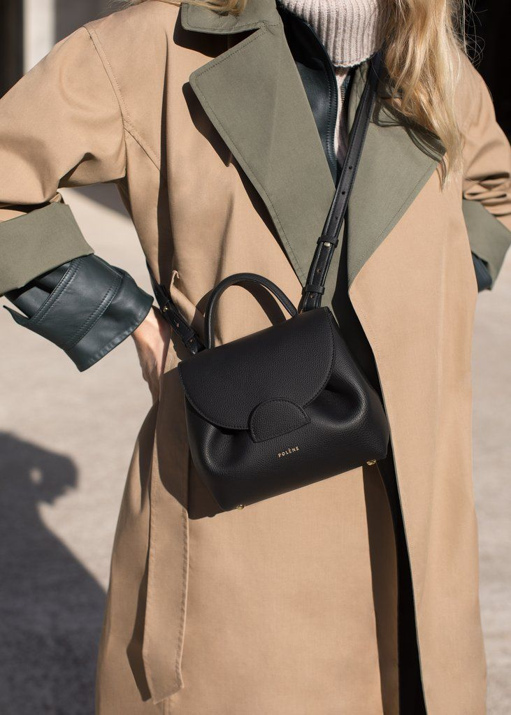 Number One Nano - Black Textured leather - Polène
