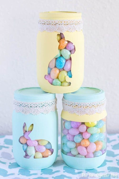 Photo of Spring Painted Candy Jars