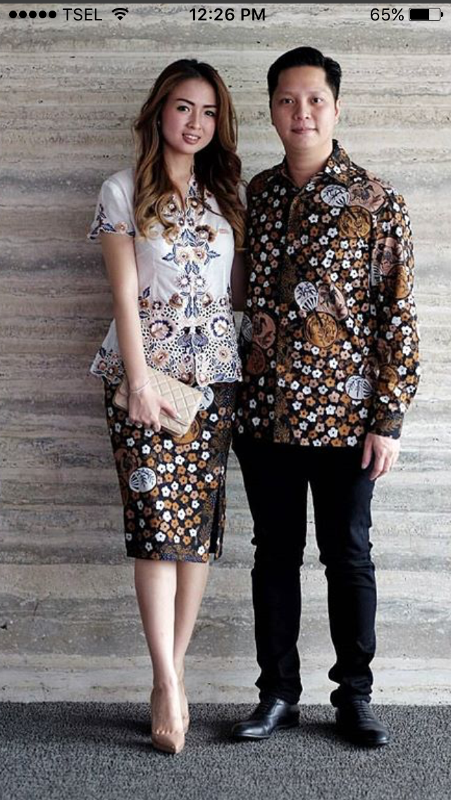 Model Baju Batik Gaun Couple 2