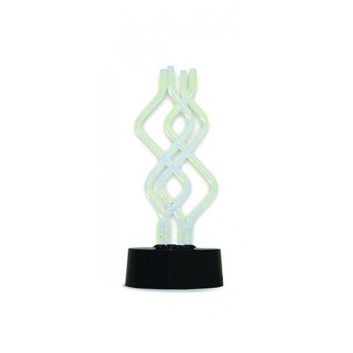"""Creative Motion Color Changing Twister 12.5"""" H Table Lamp"""