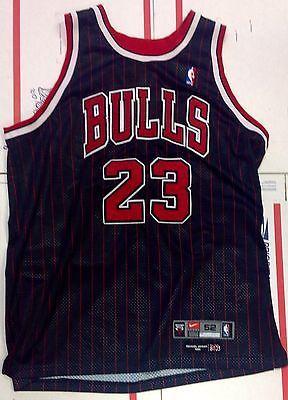 9b916c1e5 1984 Nike Flighjt Michael Jordan NBA Basketball Jersey Chicago Bulls  Pinstripe