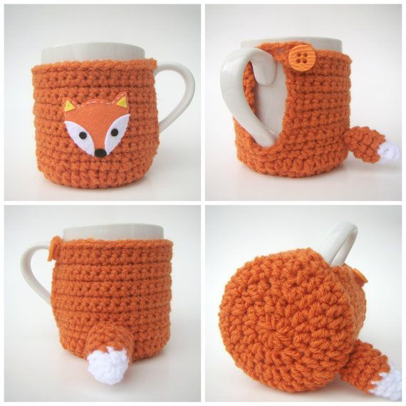 Fox Cup Cozy with MUG Sweater Mug Cozy Cup Cosy | Knitting & Crochet ...