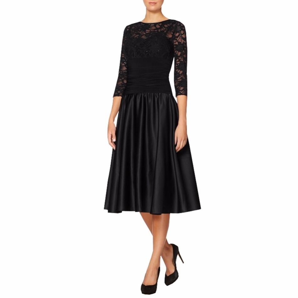 Short navy elegant mother of the bride lace dresses with