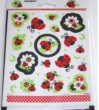 Red LADYBUG 1st Birthday ~(4) Sticker Sheets~ Party Supplies Decoration Ebay