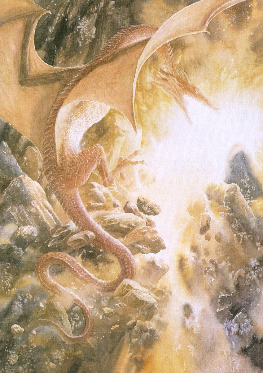 Image result for Alan Lee Smaug's Fury