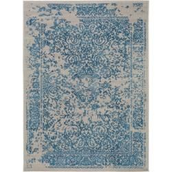 Photo of benuta Rug Antique Blue 200×290 cm – Vintage rug in used look benuta
