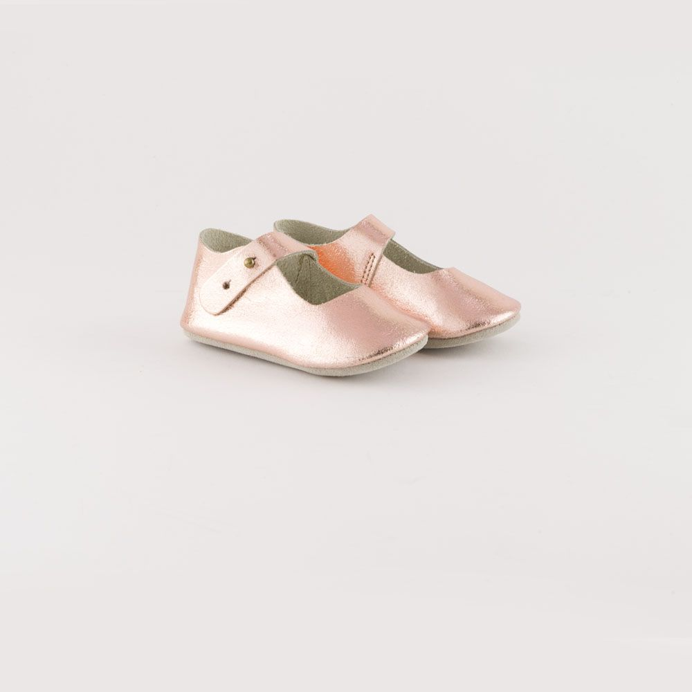 copper baby shoes