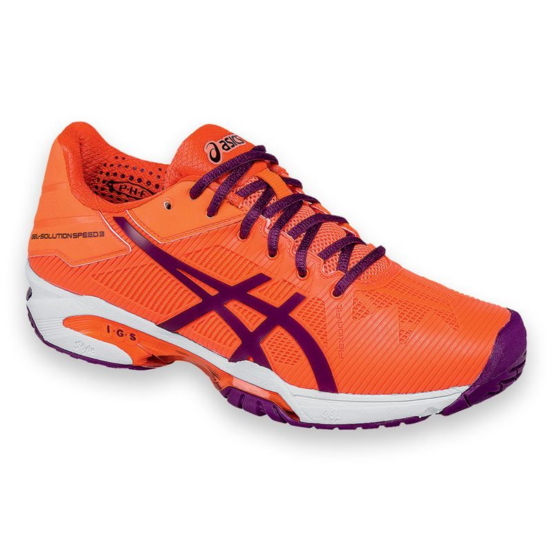 2016 Asics Gel Solution Speed 3 Womens Tennis Shoe - Coral/Plum