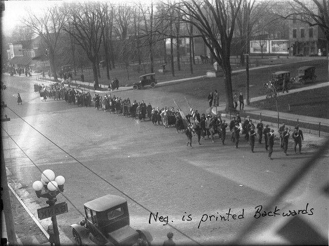 Oxford Armistice Day Procession 1918. #miamioh #history #armistice #wwi