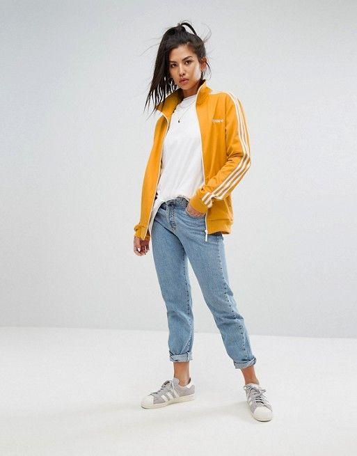 adidas originals veste de survêtement jaune