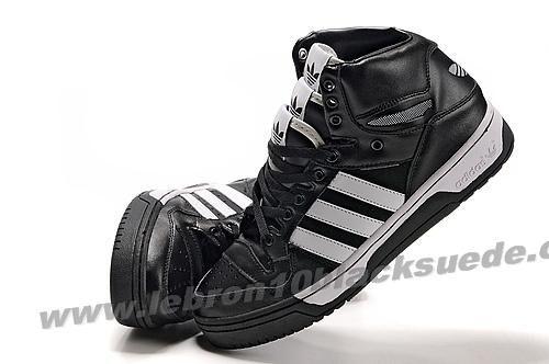 Adidas X Jeremy Scott 3 Tongue Shoes Black White