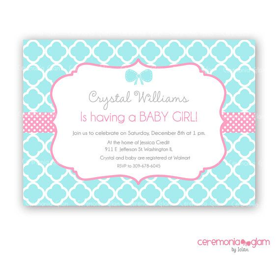 Baby shower girl turquoise and pink quatrefoil by ceremoniaglam baby shower girl turquoise and pink quatrefoil by ceremoniaglam 950 filmwisefo