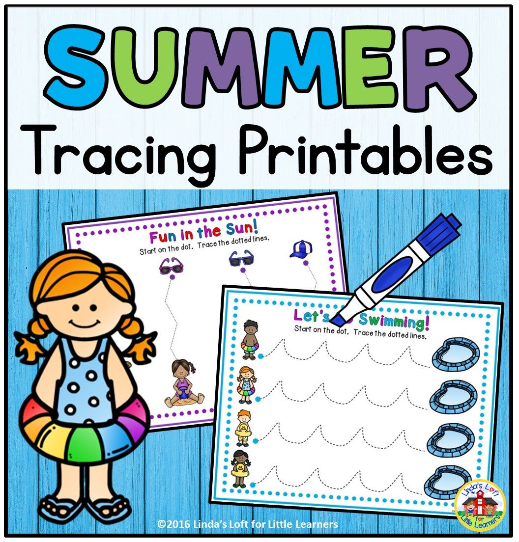 Summer Tracing Printables