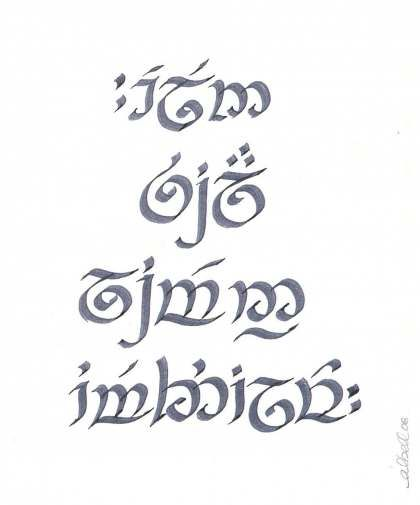 Elvish is one of many languages that Tolkien invented. The