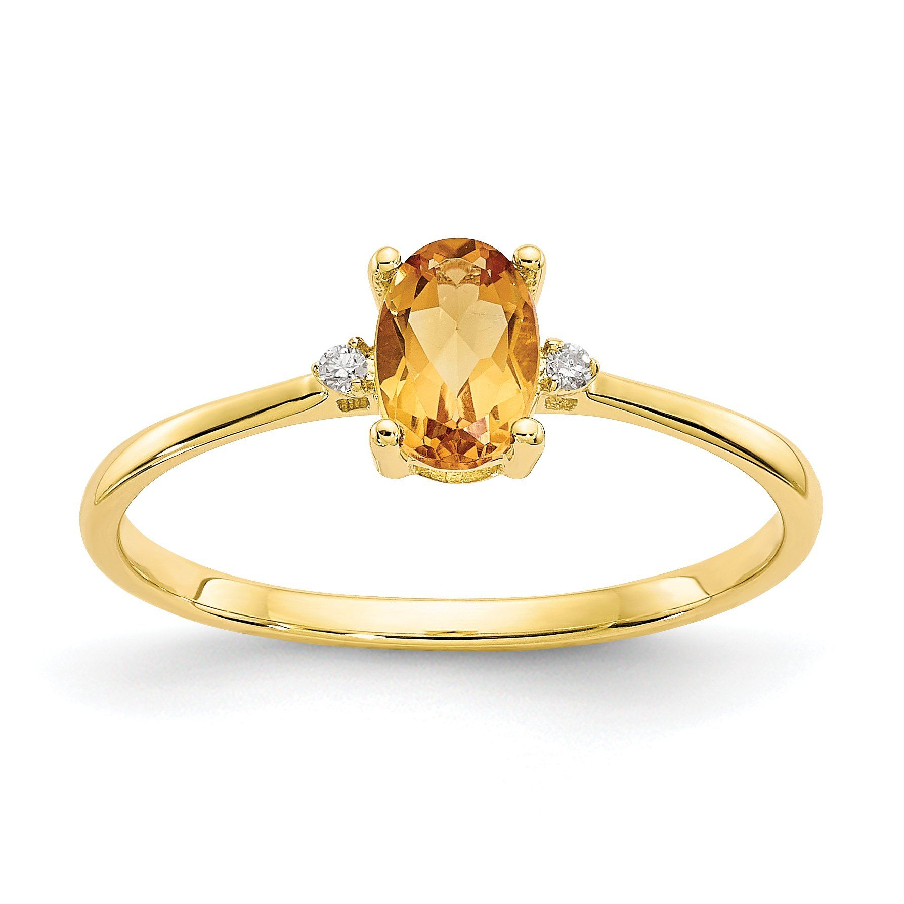 14k Or 10k Yellow Gold Diamond Citrine Oval November Birthstone Ring Sparkle Jade November Birthstone Ring Citrine Ring Engagement Citrine Promise Ring