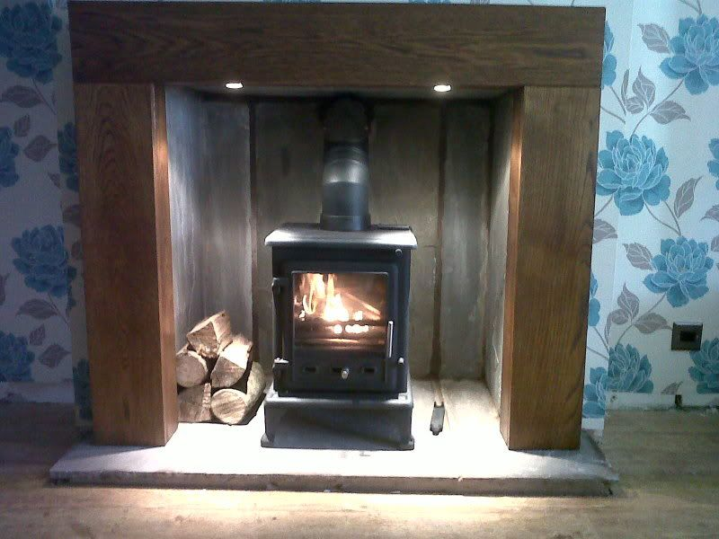 Fake Burning Logs For Fireplace Basement Chimney Breast Wood