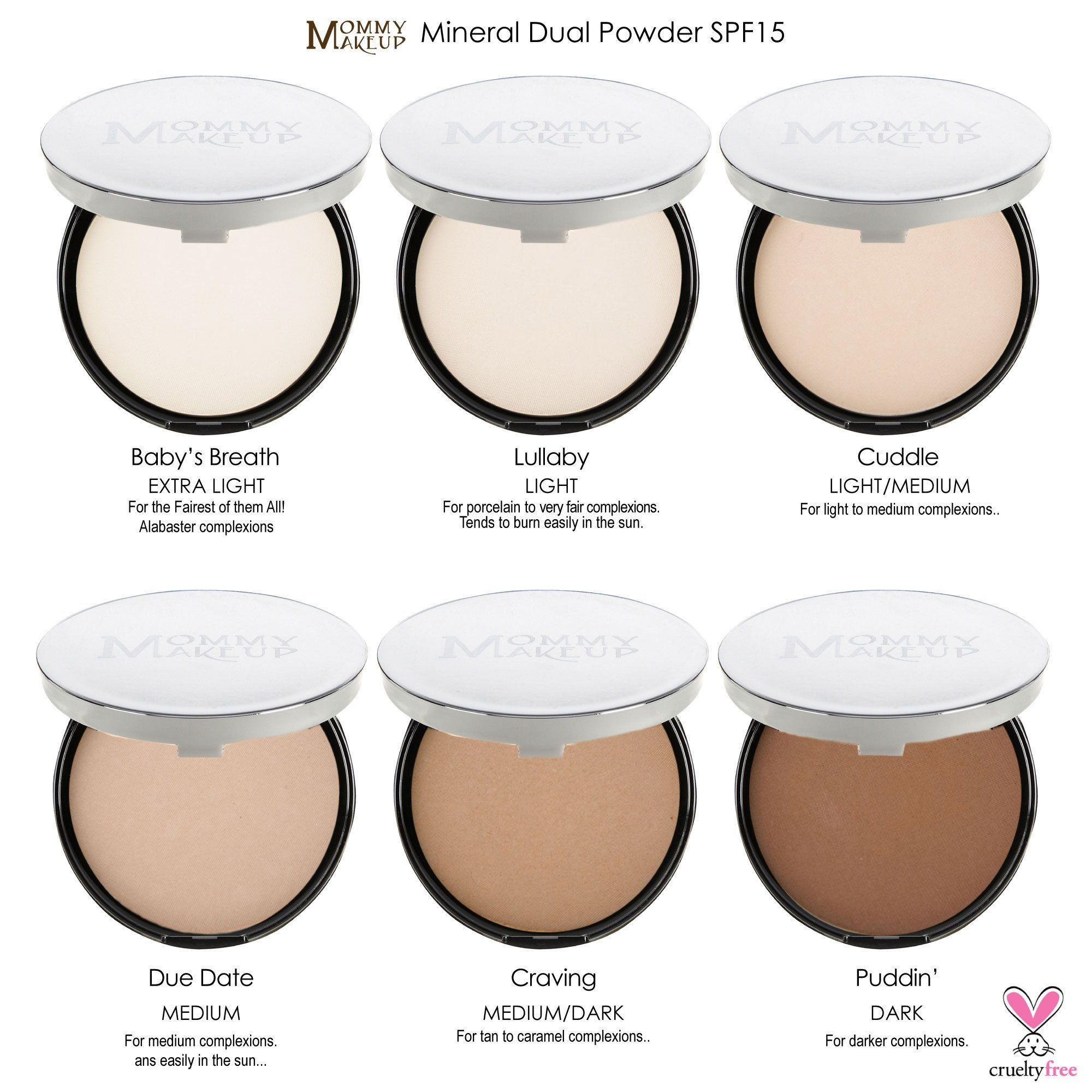 Mommy makeup mineral dual powder spf15 4in1 pressed