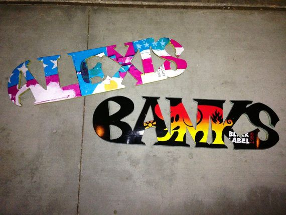 Skateboard deck Wall-Hanging Name cutout decor sign reclaim used ...