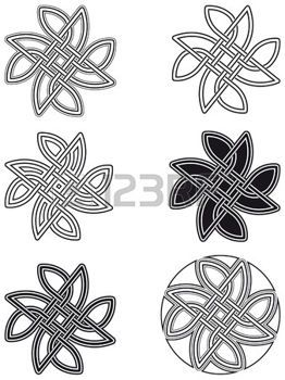 Celtic knot six arrangements diff�rents photo
