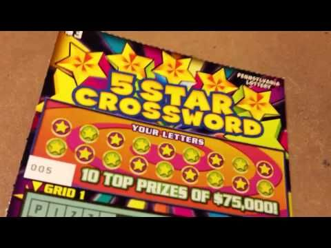 (WINNER) 5 STAR CROSSWORD~$3 TICKET~PA LOTTERY INSTANT GAMES - (More info on: https://1-W-W.COM/lottery/winner-5-star-crossword3-ticketpa-lottery-instant-games/)
