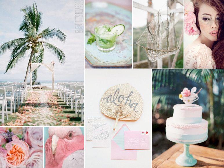 tropical pastel wedding color